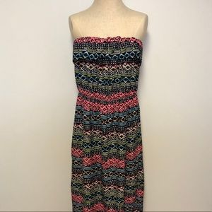 Colorful tribal maxi dress